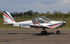 G-CDTA - Evektor EV-97 EuroStar  arrives at Abingdon 2019 . (Bob Symes) Tags: 20052509 abingdon ev97 gcdta eurostar evektor