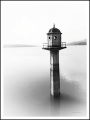 la torre (bit ramone) Tags: granada andalucía españa spain bitramone blancoynegro blackandwhite minimal bermejales torre tower pantano agua water monocromo