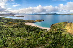 ☘️ The Lucky Shell Beach 🐚 (Gareth Wray - 13 Million Views, Thank You) Tags: walking strand sand beach bay landscape seascape sheephaven view dji phantom four 4 pro p4p uav drone creeslough ards friary forest lucky shell park county donegal ireland irish countryside nature gareth wray photography scenic landmark tourist tourism location visit wild sight site atlantic ocean way sea summer day photographer vacation holiday europe downings wildatlanticway