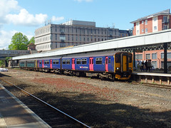 143603 & 150238 Exeter Central (1) (Marky7890) Tags: 150238 class150 sprinter gwr 143603 class143 pacer 2f25 exetercentral railway devon train