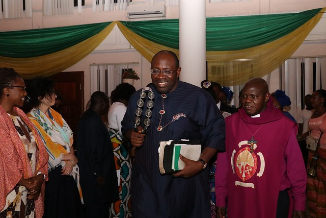 HSDickson - His Excellency, with the Archbishop of York (Chairman of the Bayelsa State Environmental Degradation Commission of Inquiry), Dr. John Sentamu, at the Bayelsa State Monthly Praise Night.