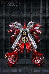 MG Sazabi Mechanical Clear Ver.Ka Expo version limited. (Andy @ Pang Ket Vui ( shootx2 )) Tags: mg sazabi mechanical clear verka expo version limited hangar 1100 bandai painted build photography gunpla custom color red trusther booster tank hydraulic backpack