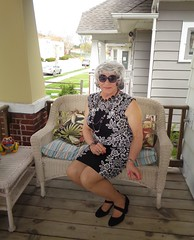 Nothing To See Here (Laurette Victoria) Tags: heels porch sunglasses silver dress woman laurette