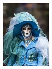 The blue lady (Francis =Photography=) Tags: saverne alsace carnival carnaval 2019 venetiancarnival grandest costumes venise venice canon600d carnavalvenitien fondblanc costume france personnes bordurephoto europa europe 67 chapeau hat hut bluelady