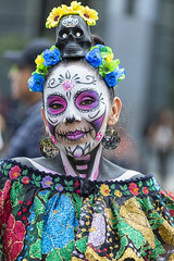 Everyday People Living Tradition (_aires_) Tags: aires iris paintedface paint skull flowers colour colourful catrina woman portrait canoneos5dmarkiii canonef70300mmf456isusm mexicocitymexico
