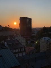 Hotel Thermal in Karlovy Vary (Sascha Klauer) Tags: carlsbad ceskarepublika czechrepublic dächer egertal erzgebirge gebäude hausd hausdächer hochhaus hotelthermal karlovyvary karlsbad krusnehory plattenbau sonne sonnenuntergang stadt sunset thermal tschechien tschechischerepublik