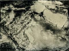 Stream (Blurmageddon) Tags: 5x7 largeformat wetplatecollodion senecaimprovedview epsonv700 alternativeprocess alumitype tintype newguycollodion limekilncanyonpark landscape stream