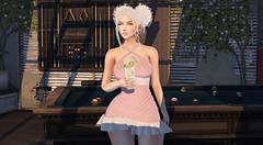 Happy Hour (Ƙɨᴛᴛƴ Ɓᴀ́ʟσʀ) Tags: sl applefall seniha flairnstyle drink billards fun cute rosa dress walltree