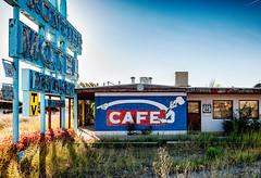No Takeout (stvjackson) Tags: nikon2470mmf28 abandoned abandonedplaces americana arizona motel nikkor2470mmf28 nikon nikond700 oldsign route66 truxton weathered
