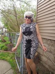 Don't Fence Me In! (Laurette Victoria) Tags: dress necklace sunglasses woman laurette