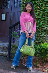 Mei (Chris-Creations) Tags: mei amateur asian attractive beautiful beauty chinese cute esposa feminine femme fille girl glamour gorgeous lady lovely mujer niña people petite portrait pretty sweet wife woman женщина 女孩 女人 性感 妻子 purse jeans pink denim smiling