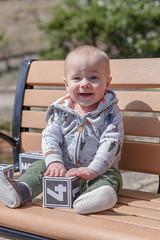 Happy boy (whateyesee13) Tags: bench boy march nc mountains montreat son happy smile peytonjames kid child nikon nikond750 lightroom adobe nikkor85mmf18 northcarolina vacation infant portrait