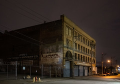 Lipoff's Center City Grocery Co. (Dalliance with Light (Andy Farmer)) Tags: armourco night eraserhood abandoned building decay philly weathered architecture lipoffs historic philadelphia callowhill pennsylvania unitedstatesofamerica keepingsociety