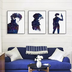 Modern Abstract Watercolor Cowboy Bebop Spike Canvas A4 Art Print Pop Movie Poster Japanese Anime Portrait Wall Picture Home Decor Paintings by TheMildArt (Mild Art) Tags: art poster print painting canvas frame design original mild home decoration wall etsy shop for themildart