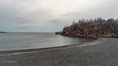 Black Beach (Lzzy Anderson) Tags: blackbeach onyxbeach taconite taconitebeach beach silverbay rock clouds stormclouds lake lakesuperior water 2019 may spring minnesota northshore upnorth
