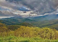 Spring Showers (mevans4272) Tags: clouds mountains blue ridge parkway grass trees springtime carolina north