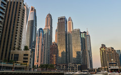 Skyscrapers in Dubai Marina at sunset (phuong.sg@gmail.com) Tags: arab arabia arabic architecture asia bay building business city cityscape day destination downtown dubai emirates estate financial futuristic group harbour illuminated industry infinity landmark luxury majestic many marina middle modern office port rooftop sky skyline skyscraper structure sunset tourism tower travel uae united urban view