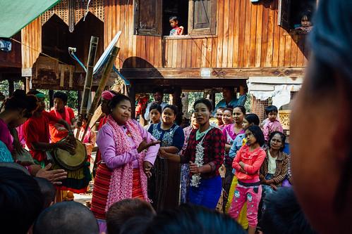 Woman In Trance at Nat Pwe Ceremony, Mandalay Myanmar
