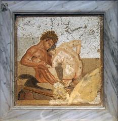 Satyr and Nymph (kate223332) Tags: museum napoli italy archeology pompeii fresco satyr nymph casadelfauno houseofthefaun mosaic romanmosaic