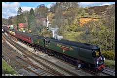 No 34092 City of Wells 3rd April 2019 North Yorkshire Moors Railway Goathland (Ian Sharman 1963) Tags: no 34092 city wells 3rd april 2019 north yorkshire moors railway goathland class wc bb west country and battle of britian 462 station steam engine rail railways train trains loco locomotive passenger nymr pickering grosmont heritage line