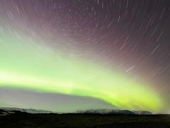 The Polar Swirls (blue polaris) Tags: iceland south coast fjallsárlón fjallsarlon aurora borealis northern light star trail startrail polaris north trails startrails jokulsarlon