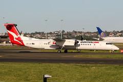 VH-LQQ (PlanePixNase) Tags: yssy syd sydney kingsford smith planespotting airport aircraft qantas dash8 dh4 qantaslink