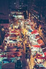Shopping Street in Hong Kong (Trey Ratcliff) Tags: treyratcliff stuckincustoms stuckincustomscom hong kong shopping cityscape night travel luminar