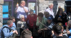 25th Féile Chois Cuain: Street Session, Louisburgh 5 May 2019 (Diego Sideburns) Tags: 25thféilechoiscuain féilechoiscuain comayo louisburgh ireland traditionalirishmusic staunton chemist sunprotection