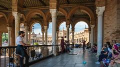 Sevilla (gerhard-pr) Tags: flamenco spanien sevilla plaza de españa zuschauer