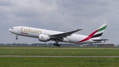 A6-EFL Boeing 777-F1H (Disktoaster) Tags: eham ams schiphol airport flugzeug aircraft palnespotting aviation plane spotting spotter airplane pentaxk1