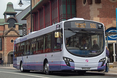 First BF63HDN (Mike McNiven) Tags: first manchester bolton depot interchange farnworth knowsleystreet eclipse volvo eclipse2 hampshire johnsonfold repainted