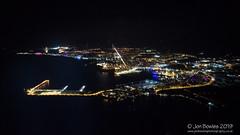 Ibiza (Jon Bowles) Tags: balearicislands spain ibiza aerial night port balearicscolor aeriallandscape rich griii finalapproach sea mediterranean