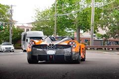 Roadster (nyccars) Tags: v12 opentop italian sports exotic cars car orange roadster huayra pagani
