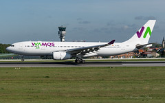 PLM_EB_A332_ECMJS_BRU_APR2019 (Yannick VP) Tags: civil commercial passenger pax transport aircraft airplane aeroplane jet jetliner airliner eb plm wamos air airbus a330 330200 a332 ecmjs touchdown landing runway rwy 25l brussels airport bru ebbr belgium be europe eu april 2019 aviation photography planespotting airplanespotting