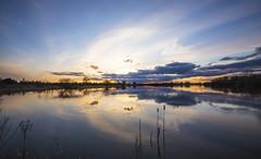 Colourful Sunset (CraDorPhoto) Tags: canon6d landscape lake water reflection clouds sky colour outside outdoors nature uk cambridgeshire hinchingbrooke