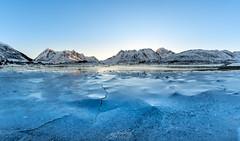 Ice Crack II Lofoten Norway (CK NG (choookia)) Tags: icecrack lofoten norway lake sunrise dawn sonya9 panorama sonyfe24240mm