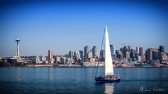 Sailing Seattle (Michael Gartner) Tags: seattle washington unitedstates puget sound sailing summer space needle
