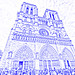 Notre Dame Cathedral (drawing filter)