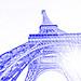 Eiffel Tower sun flare (drawing filter)