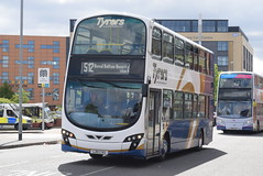 TC LX11CVU @ Bury Interchange (ianjpoole) Tags: tyrers coaches volvo b9tl wright eclipse gemini lx11cvu working route 512 royal bolton hospital bury interchange this is former goahead london general wvl394