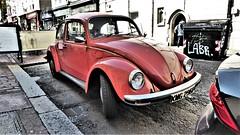 1976 Volkswagen Beetle - Orange. (ManOfYorkshire) Tags: kmg296p vw volkswagen beetle orange 1192cc petrol engine parked onstreet brighton england uk gb sussex 1976