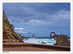 Kunst & Natur (dolorix) Tags: dolorix spanien spain sansebastian donostia meer ocean kunst art windkämme combofthewind eduardochillida
