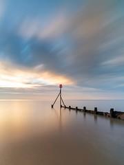 ALIGN (Nick Seaman Photos) Tags: batis batis2818 batis1828 zeiss longexposure awn dawn essex dovercourt sunrise groyne defence sea coastal calm marker navigation a7rii 18mm fullframe