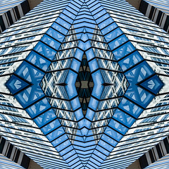 (jfre81) Tags: chicago architecture abstract pattern design mirrored folded kaleidoscope city urban blue white black texture james fremont photography jfre81 canon rebel xs eos
