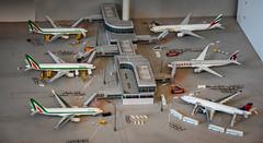 Diorama airport terminal 1:500 - Herpa (Michele Centurelli) Tags: herpa diorama airport terminal aeroporto 1500 scale modellismo aerei alitalia delta emirates qatar a330 777 777300er a350 a350900 777200 a330200 a330300 airbus boeing nikon d7200 18105 lightroom homemade models eiejg eiejj idisu n821nw a7alc a6ega