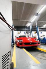 Ferrari F40. (Tom Daem) Tags: ferrari f40 garage deman brussels brussel