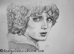 Frodo Baggins Drawing | Sketching | Karakalem (hediyelikkarakalem) Tags: charcoal charcoaldrawing drawings draw image pictures illustration graphics paintings sketching pencildrawing art myart graphic creative portrait abstractart life love realism cool awesome beautiful sketchbook artist lifestyle europe usa design birthday