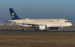 SVA_A320_HZASB_FRA_FEB2019 (Yannick VP) Tags: civil commercial passenger pax transport aircraft airplane aeroplane jet jetliner sv sva saudi arabian airlines airbus a320 320200 frankfurt rheinmain airport fra eddf germany de europe eu february 2019 departure lineup takeoff runway rwy 18 aviation photography planespotting airplanespotting hzasb