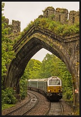 When in Conwy..... (peterdouglas1) Tags: conwy arches northwalescoastrailway dbcargo class67 67029 royaldiamond skips 1d34