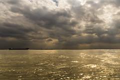 Waarde (Omroep Zeeland) Tags: waarde westerschelde wolkenlucht zonnestralen binnenvaartschip